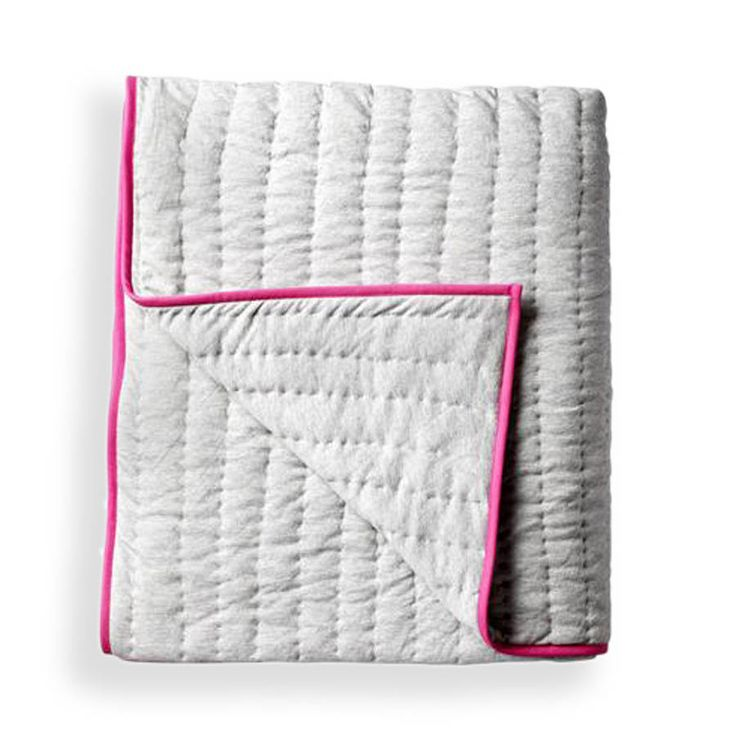 Neon Pink And Grey Throw