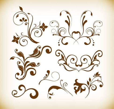 Free vector Floral Element Vector Graphics Collection #4986