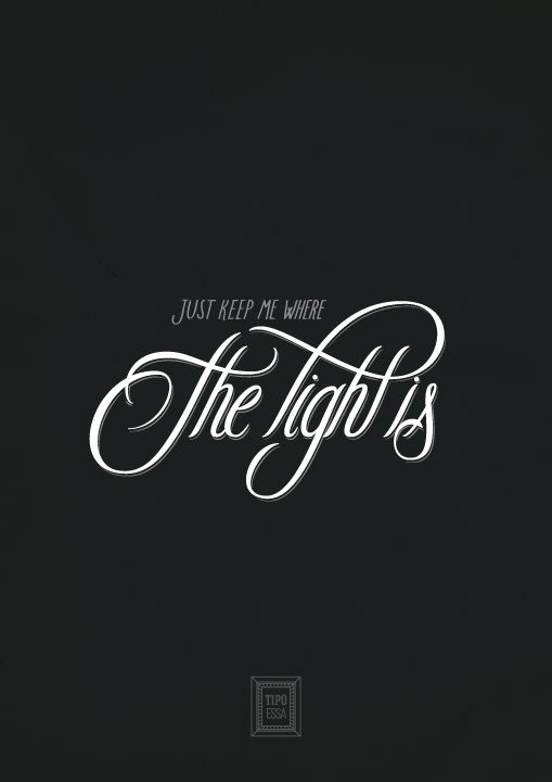 Gravity - John Mayer - Poster Calligraphy Lettering Typography