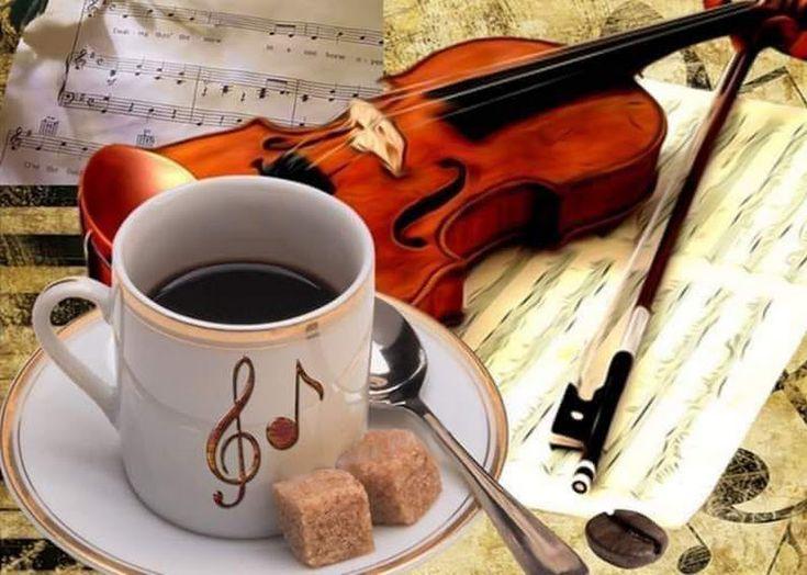 подобранный цвет картинки с добрым утром со скрипкой время