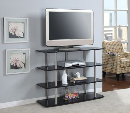 Convenience Concepts XL Highboy TV Stand in Black