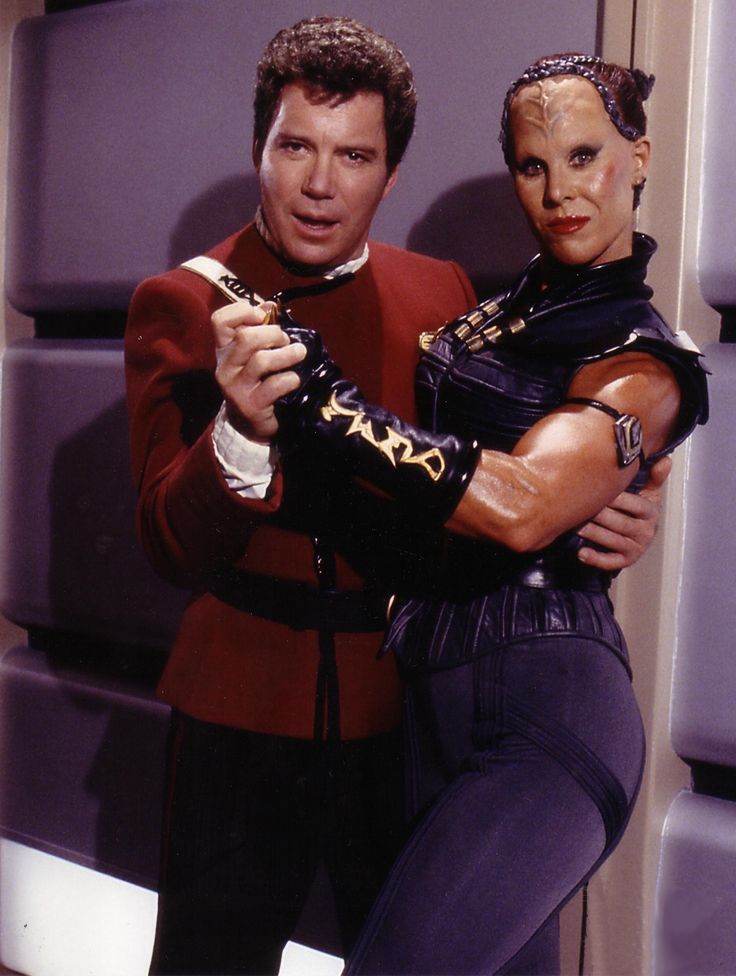 William Shatner with Spice Williams from ST V: The Final Frontier.
