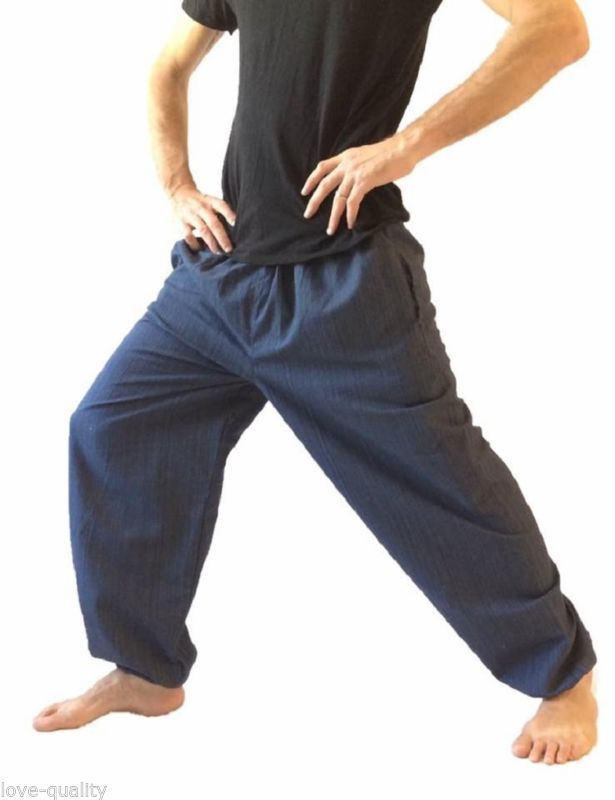 Pantalones bombachos para hombre de un tamaño Algodón HARÉN PANTALONES, Hippie Boho Yoga pantalones