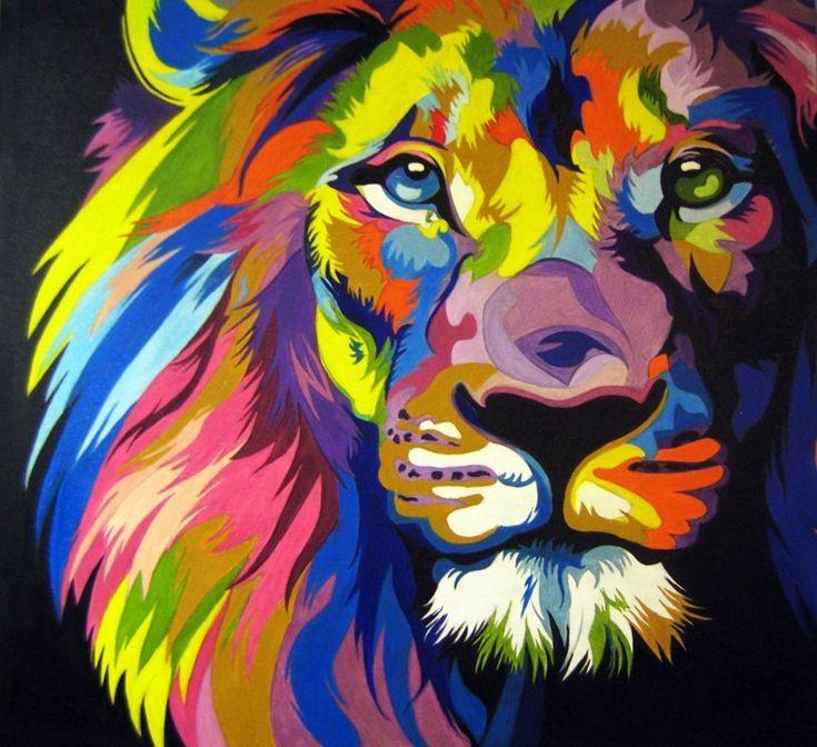 Arte clásico moderno. #león #colores #arte