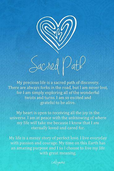Affirmation - Sacred Path by CarlyMarie