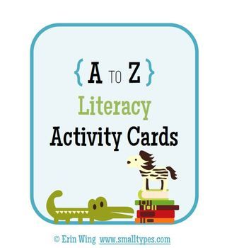 A to Z Literacy Activity Cards -Free!