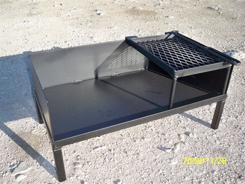 Dutch Oven Table by NorCal Ovenworks. I like the design (height and the side grilling shelf concept) Perfect! Look them up: www.norcalovenworks.com