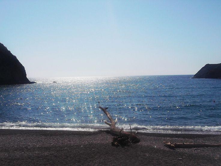 Isola di Palmarola - il tronco che attualmente (2016) risiede solitario  sulla spiaggia di Cala del porto | da Lorenzo Sturiale