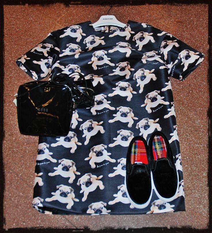 Au Jour Le Jour dress Golden Goose pochette Chiara Ferragni shoes