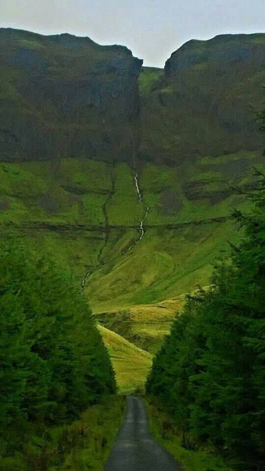This is a road that rises to meet you! Glenfield, County Sligo.