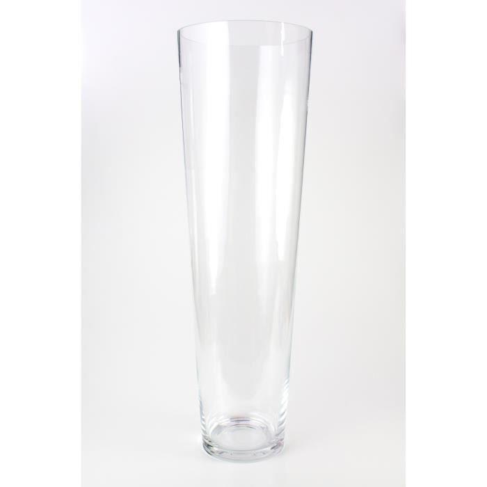 Grand Vase Conique En Verre Anna Transparent 70 Cm O 22 Cm Vase A Fleurs Vase Haut Inna Glas Grands Vases Vase Vases En Verre Transparent