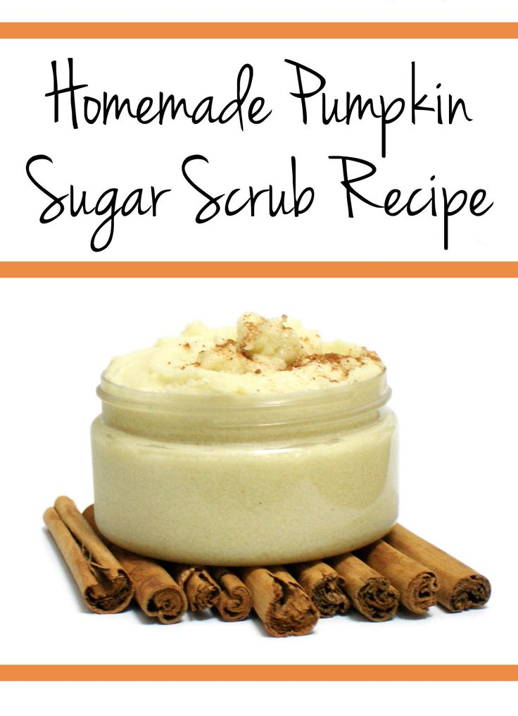 Homemade Pumpkin Spice Sugar Scrub Recipe // This fantastic fall inspired homemade pumpkin spice sugar scrub recipe is whipped for a super creamy, sugary scrub that exfoliates and moisturizes! It's made with natural pumpkin seed oil prized for its moisturizing properties to dry and damaged skin, simply scent with your favorite pumpkin spice fragrance. #pumpkinspice