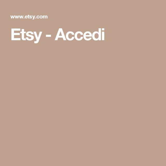 Etsy - Accedi
