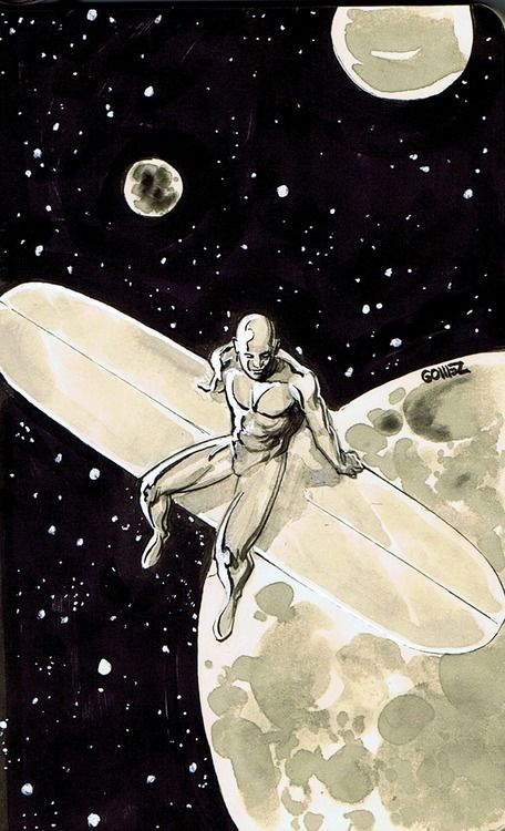 Silver Surfer by Joel Gomez. This is my all time favorite Silver Surfer fan art.