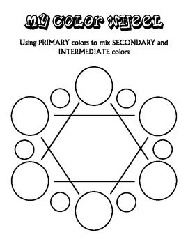 Color Wheel, Primary/Secondary/Intermediate, Analogous