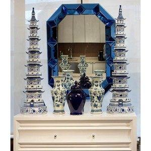 Romano Wall Mirror, Blue