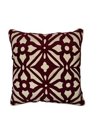 62% OFF Villa Home Matrix Pillow, Burgundy
