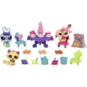 Littlest Pet Shop Figures Themed Playset Tea Party Teatime Fun