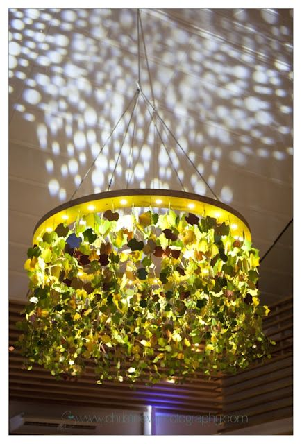 The chandelier over the wine tasting area at Leopards Leap in Franschhoek, South Africa. Designed by Christiaan Barnard and manufactured by Pierre Cronje