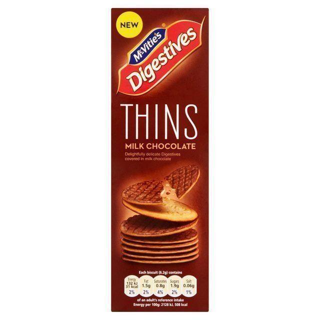McVities Digestive Thins Milk Chocolate 180g