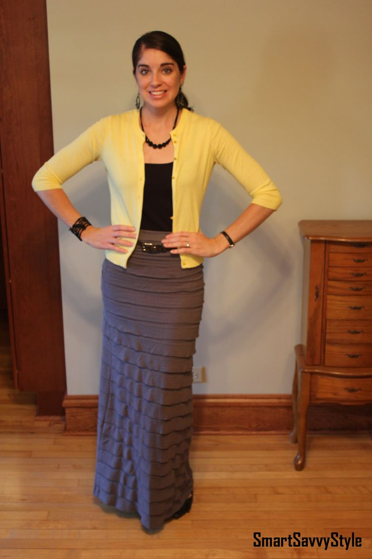 how to wear a maxi skirt to work smart and savvy office