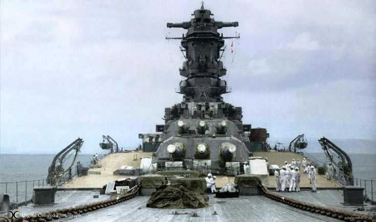 The 18.1 inch Naval Guns of the Imperial Japanese Navy's Musashi - a Yamato class super-battleship!