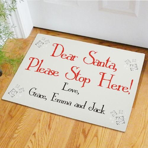 Personalized Dear Santa Doormat Products Pinterest