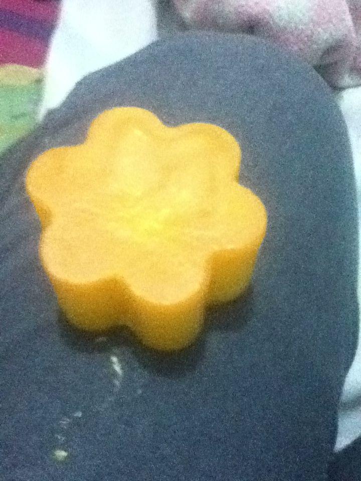 Luz de flor naranja vela luminart