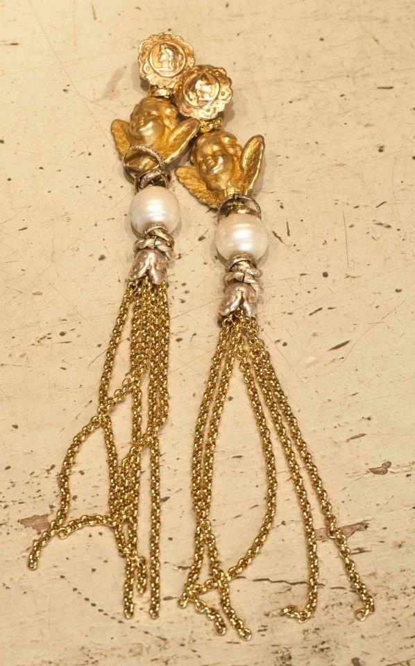 #longearrings #pearls #giuseppinafermi #gioielli #goldandpearls #orecchini #italia
