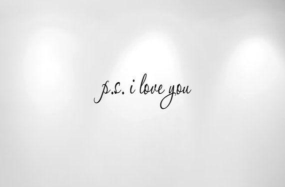 ps I Love You Wall Decal Quote 1166 20 wide by innovativestencils, $12.99
