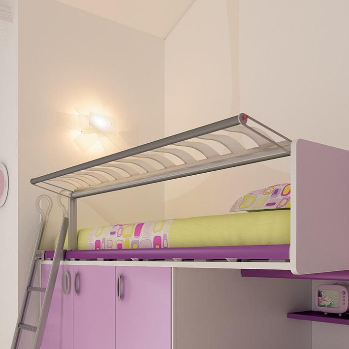 """#Arredamento #Cameretta Moretti Compact: Collezione 2012 """"Team"""" > Kids – Soluzione a #Soppalco >> ks25 #letto #armadio http://www.moretticompact.it/kids.htm"""