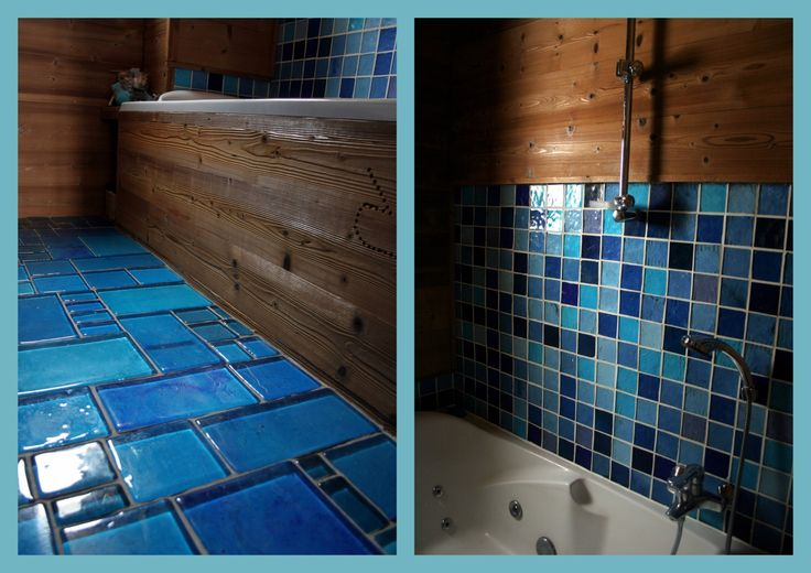 12 best images about sdb faience on pinterest models for Faience bleu turquoise salle de bain