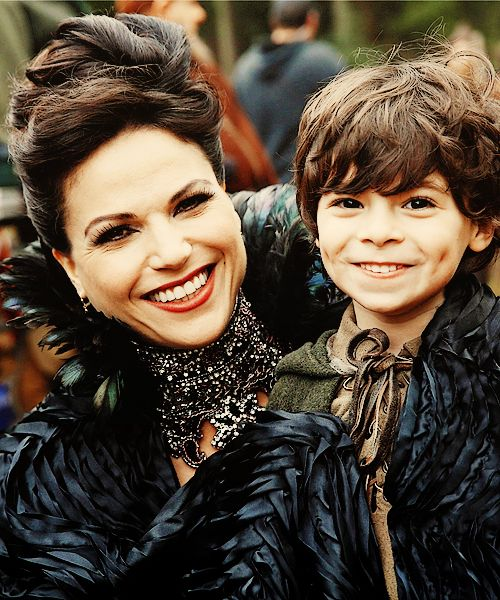 Once Upon A Time ~ Regina and Roland. Awww he is so cute, I can't wait for her and Robin Hood to tie the knot, I just love them together!!