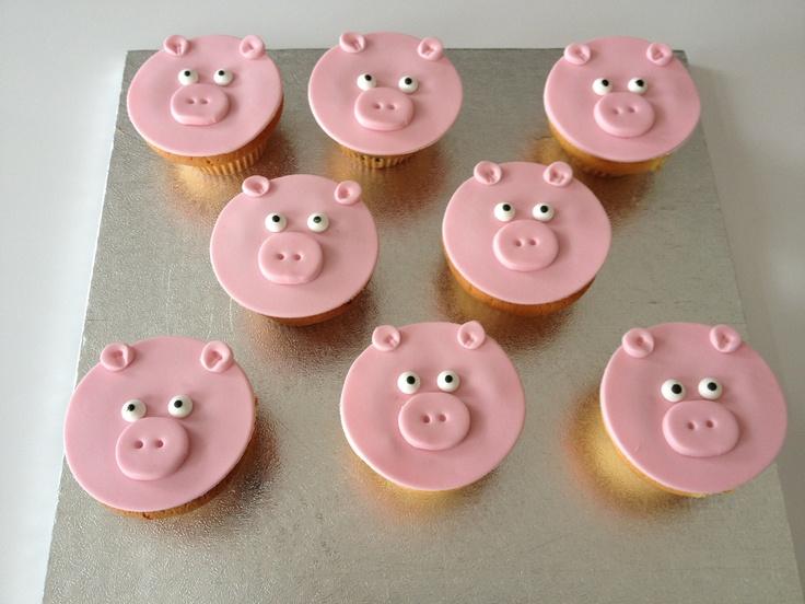 Varkens cupcakes