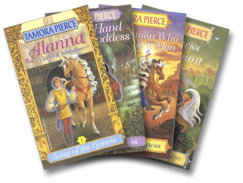 The Song of the Lioness Quartet- the first novels I actually enjoyed reading: