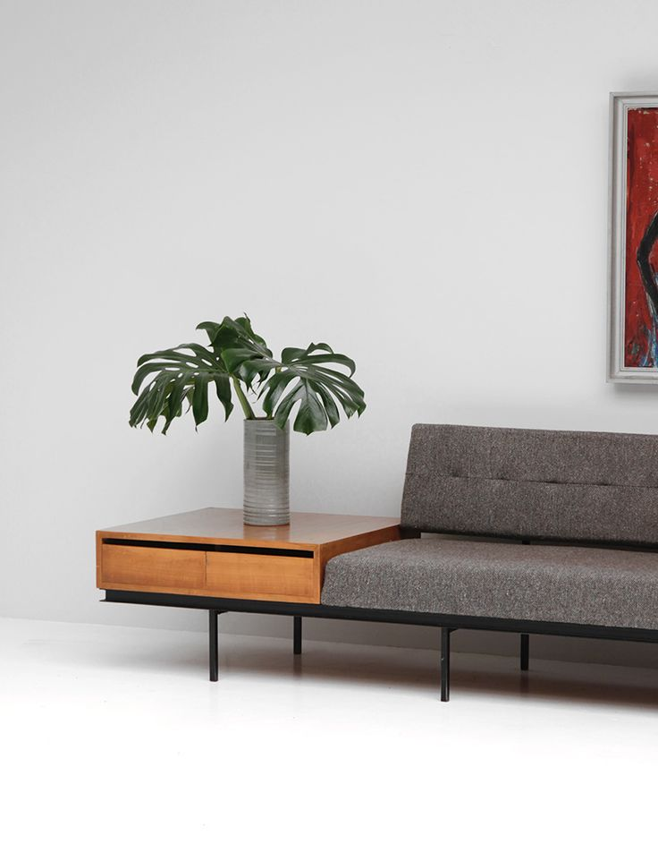 #codeparis Sofa and Cabinet by Florence Knoll