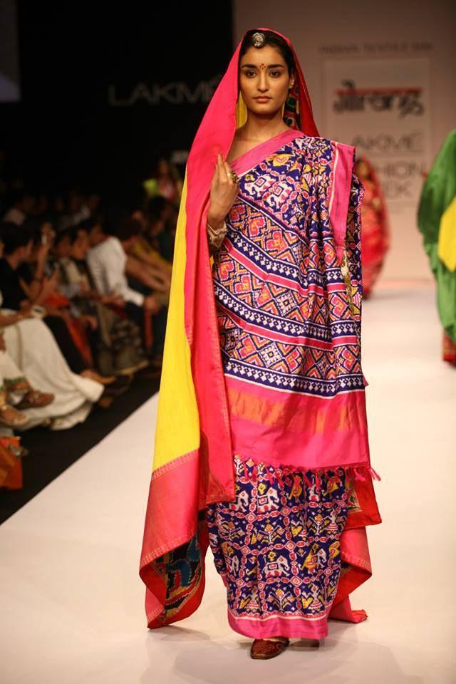 Gaurang - Lakme Fashion Week Winter/Festive 2013 Patan patola beautiful indian double ikat