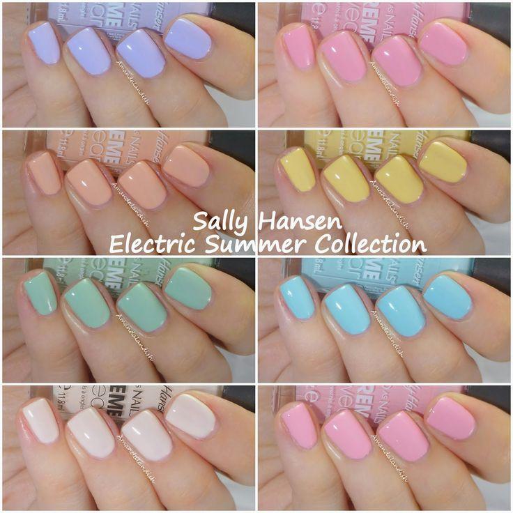 Sally Hansen Electric Summer Collection for Summer 2014