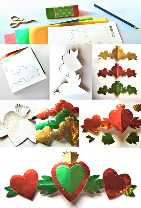 Make a milagro ornament with template and easy follow instructions!