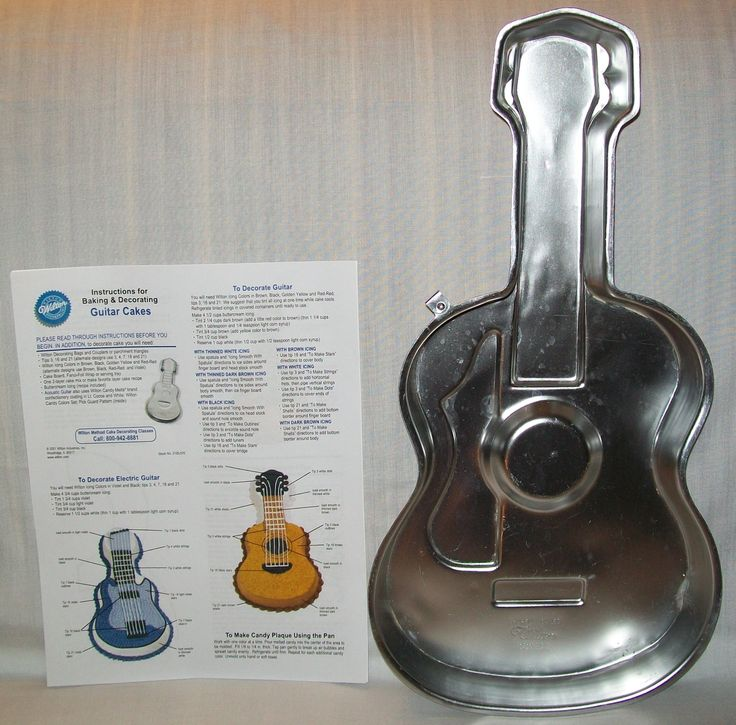 Vintage Shapely Cakes Old Wilton Cake Pan Guitar With