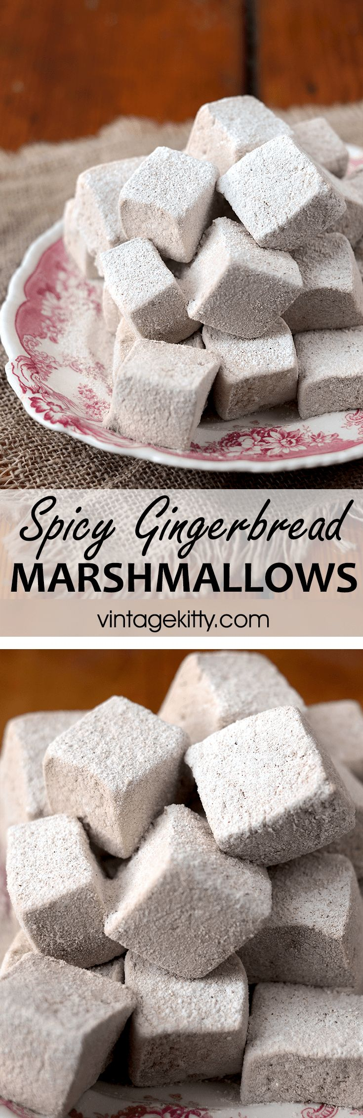 Spicy Gingerbread Marshmallows - Vintage Kitty