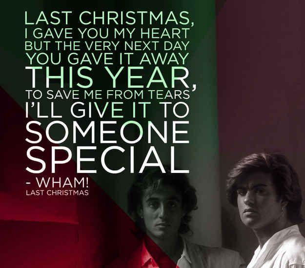 "Wham!, ""Last Christmas"" | The 22 Saddest Christmas Songs Of All Time"