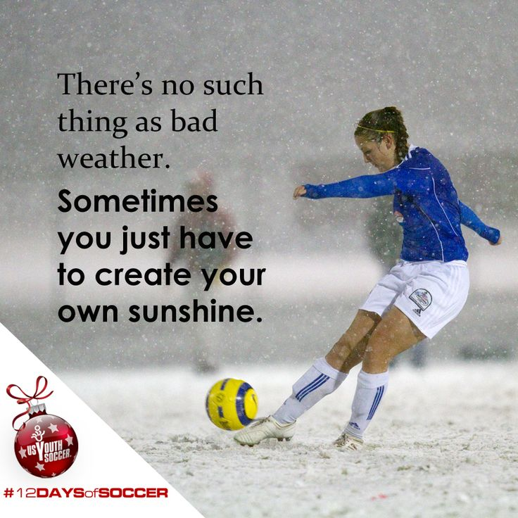 Sometimes you have to create your own sunshine. #12DaysofSoccer