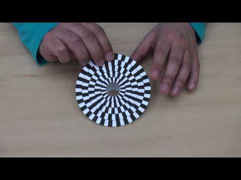Wonder Spinning Top and Optical Illusions - Tutorial and Free Plan Download (不思議コマ)
