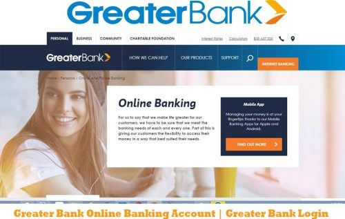 Greater Bank Online Banking Account | Greater Bank Login - Tecteem