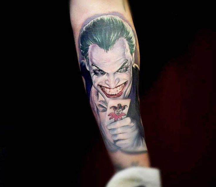The Joker tattoo by Kris Busching