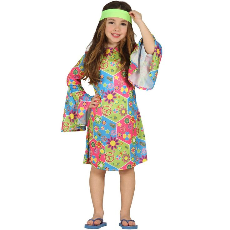 Disfraz Niña Hippie Infantil - Comprar Online {Miles de Fiestas}
