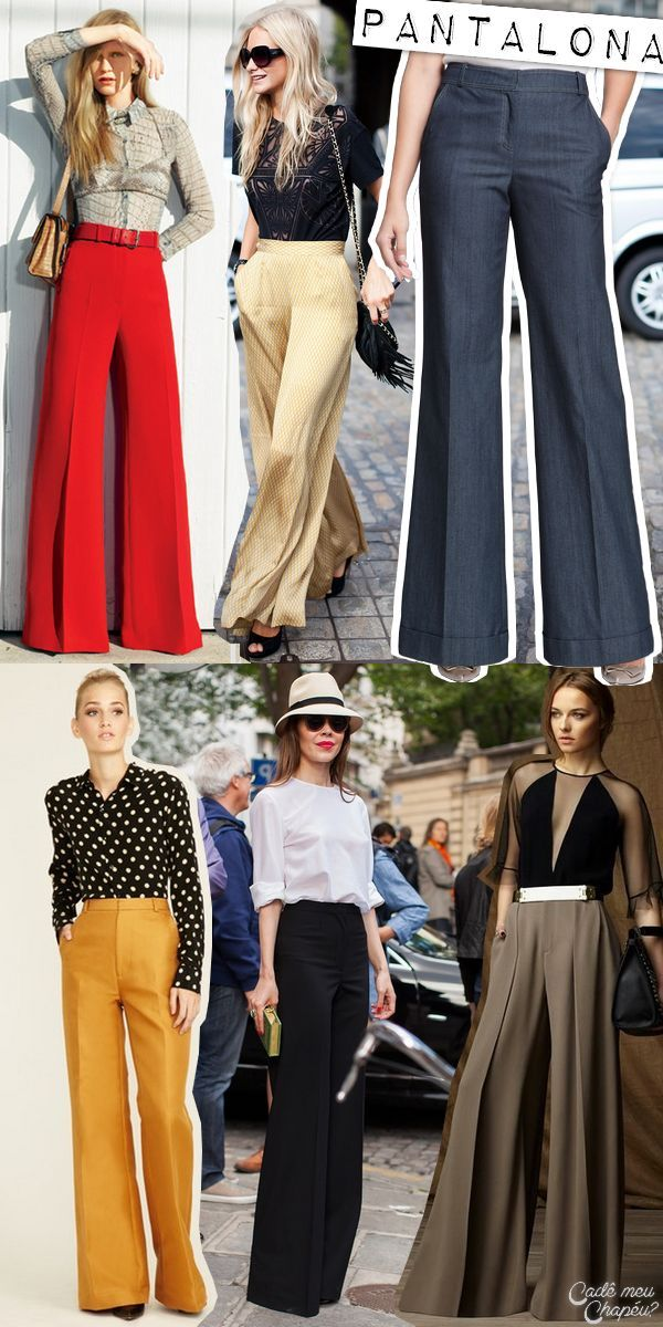 Ideas for Fall Outfits 2016 |Flare Pants | Trousers | Palazzo Pants | Wide-Leg Pants | http://cademeuchapeu.com