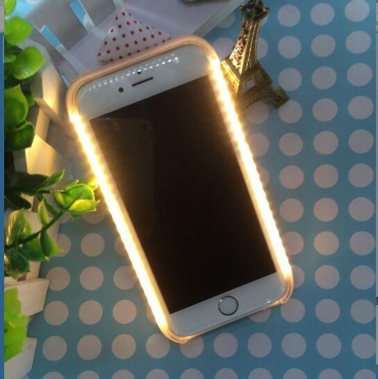 Capa para samsung galaxy note 7 5 s6edge plus s5 6 7 s7edge luz caso flash led acende caso selfie para iphone 7 5 5s se 6 s plus