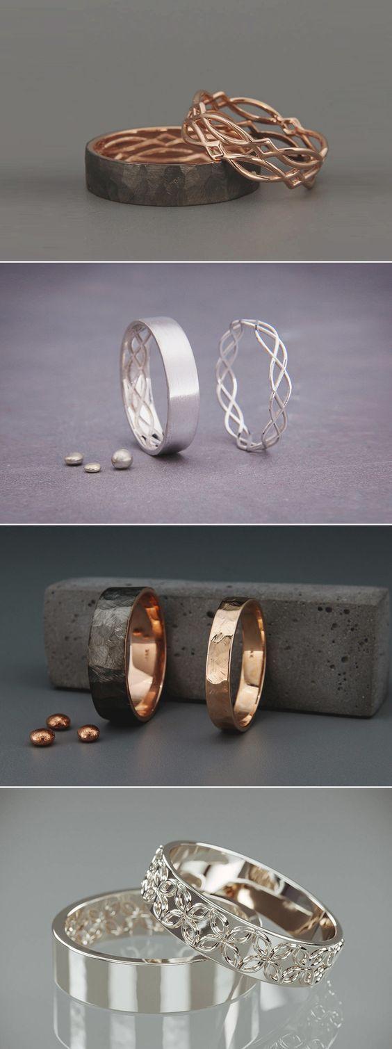 17 kreative personalisierte sein und ihr Versprechen Ringe für moderne Paare! – Emma
